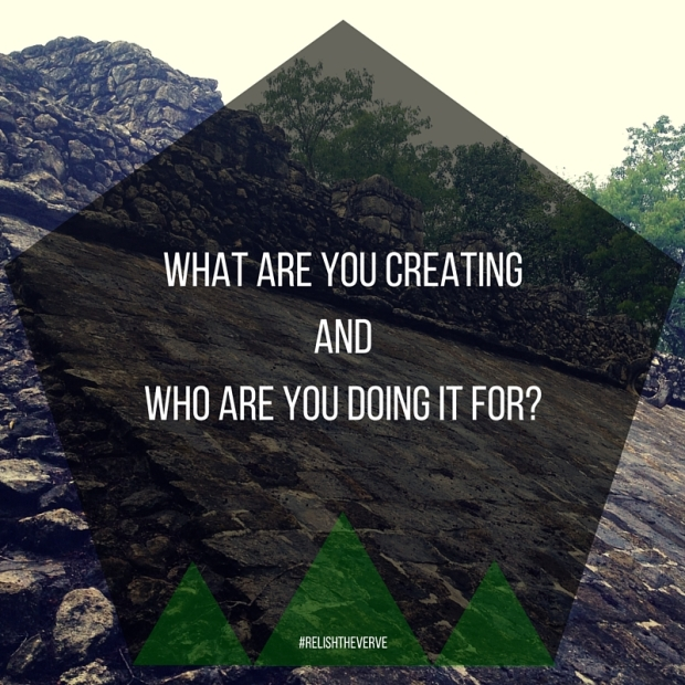 What are you creating and who are you doing it for-